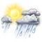 Weather Icon: Scattered Showers